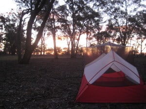 Hubba hubba, sweet camping spot and lovely sunset