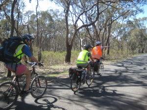 Road cycling in hi-vis