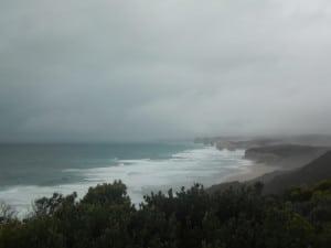 Weather turning nasty at the Twelve Apostles