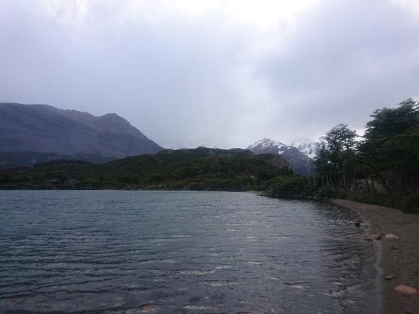 A mountain lake.